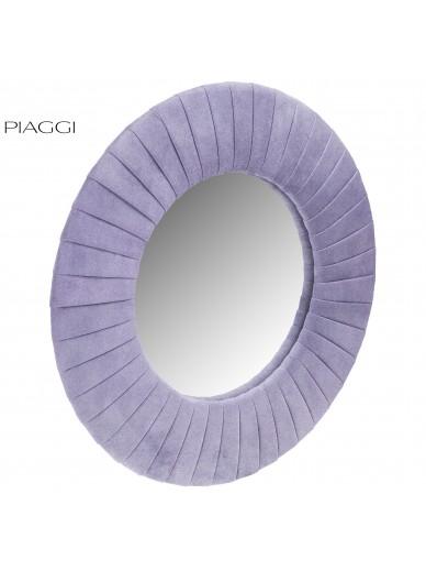 Velvet Violet Round Mirror