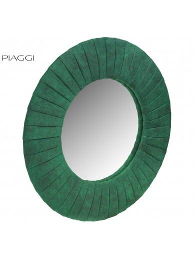 Velvet Green Round Mirror