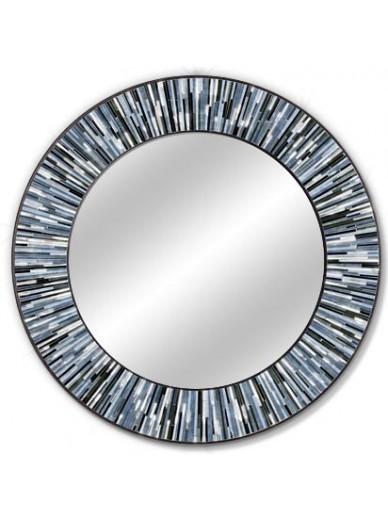 Roulette Grey Round Mirror