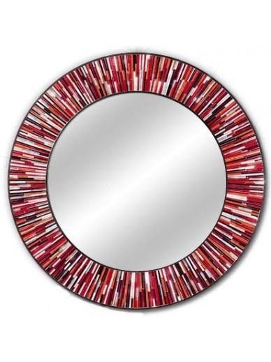 Roulette Red Round Mirror