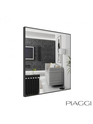 Poppy Silver Square Mirror