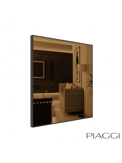 Popy Bronze Square Mirror
