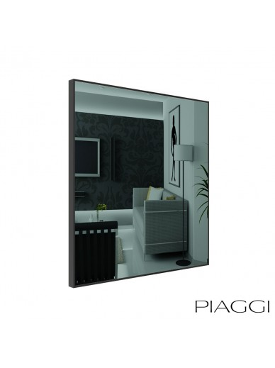 Poppy Graphite Square Mirror