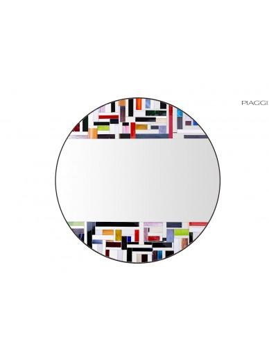 Roulette Multicolour Round Mirror