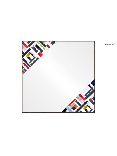 Abstract Square Double Multicolor
