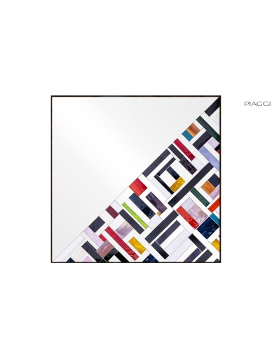 Abstract Square Half Multicolor